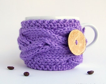 Coffee Cozy, Tea Cozy, Coffee Cup Cozy, Coffee Mug Cozy, Coffee Cup Sleeve, Coffee Cup Cozy Coffee Mug Sleeve Coffee Sleeve Lavender Gifts