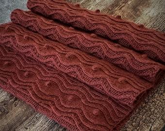 Knitting Pattern Cowl, Knit Cowl Pattern, Cowl Knitting Pattern, Knit Cowl Scarf Pattern, Cable Bobble Knit Pattern Cabled Knitting Patterns