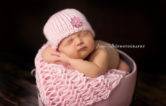 Newborn Hat Girl Newborn Wrap Set Newborn Photo Prop Girl  e07085325685