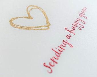 Heart of Gold (Blank Cards) - glittery pandemic telegram!