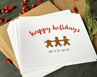 Gingerbread Cookie Holiday Cards for a Pandemic Year!