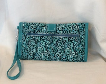 Turquoise Changing Pad Clutch
