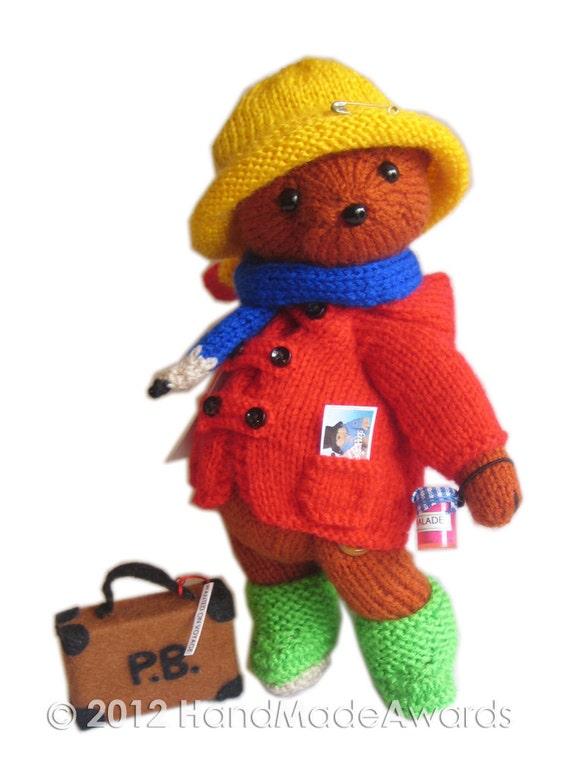 Paddington Bear Pdf Email Knit Pattern Etsy