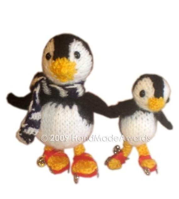 PINGUINOS PATINADORES Papi pinguino y su hijito patinando con | Etsy