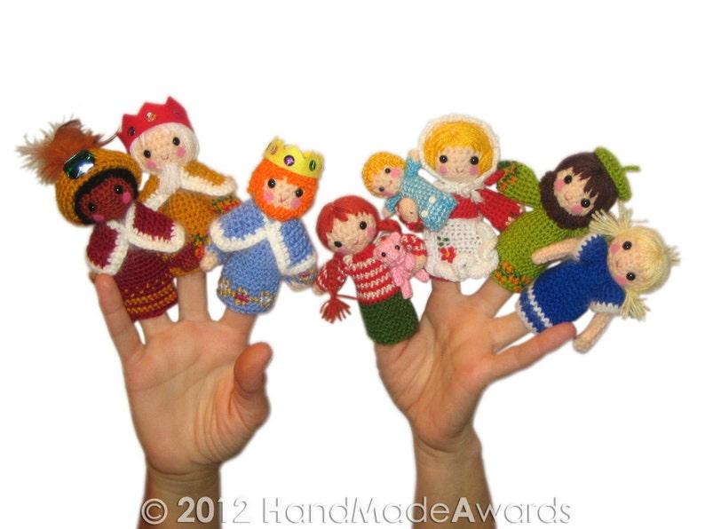Nativity Finger Puppets Crochet Pattern