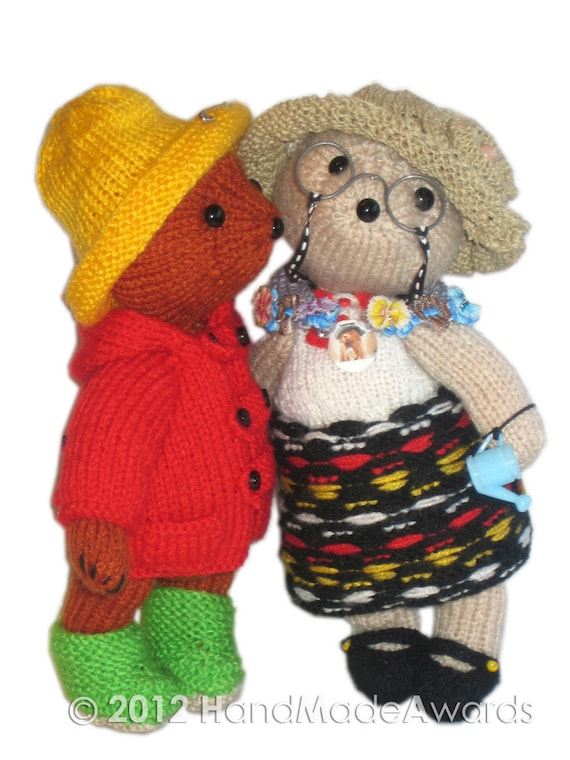 Aunt Lucy Bear Pdf Email Knit Pattern Etsy