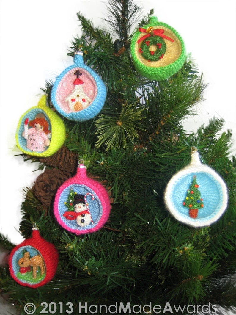 Christmas Diorama Ball CHURCH Ornament Pdf Email Knit PATTERN image 0