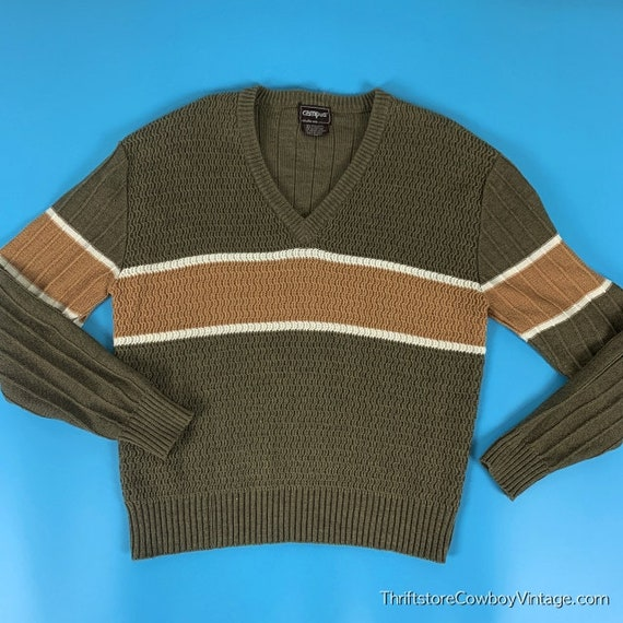 Vintage Campus Sweater 70s Studio One Coffee Latte