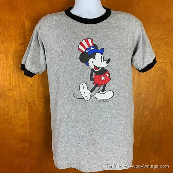 Vintage Mickey & Co Ringer Shirt 90s 4th July Uncl