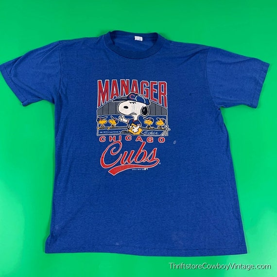 Vintage Snoopy Chicago Cubs T-Shirt 1990 Peanuts C