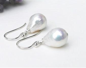 June pearl 20 mm Black Rainbow Kasumi Baroque Cultured Pearl Earring