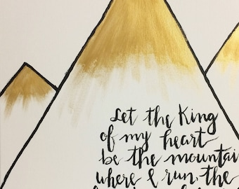 King Of My Heart Original Painting  Worship Lyrics