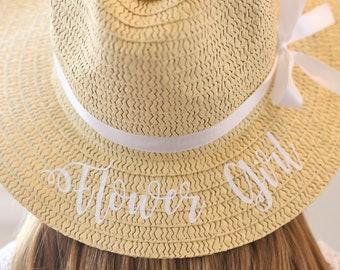 c92c6b0b0e0 Personalized Flower Girl Gift Flower Girl Gift Personalized Flower Girl Hat  Personalized Floppy Hat Personalized Sun Hat Personalized Hat