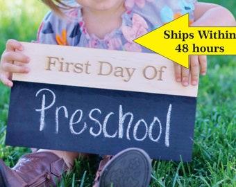 First Day Of School Chalkboard Sign Chalkboard Sign First Day Of School Sign