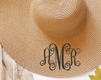 170e764a51a Personalized Bridal Shower Gift Personalized Wedding Gift Personalized  Floppy Hat Personalized Sun Hat Birthday Gift Christmas Gift Monogram