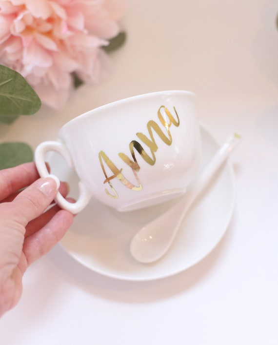 Personalized Bridal Shower Gift Personalized Wedding Gift Personalized Tea Cup Personalized Cup Personalized Gift Custom Cup