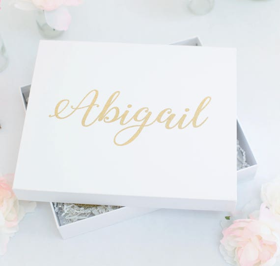 Personalized Gift Box Birthday Present Valentines Day Bridal Shower Wedding Gift Glitter Gold Baby Shower 20 30 40 50 Party Gift (BBND20184)