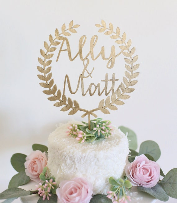 Cake Topper Personalized Cake Topper Gold Cake Topper Cake Topper For Wedding Bridal Shower Cake Topper Calligraphy Cake Topper First Names