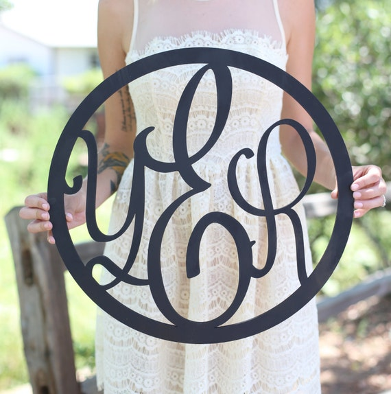 Personalized Rustic Wood Monogrammed Sign Monogram Wedding Gift Bridal Shower Christmas Baby Shower  (Item Number MHD20023)