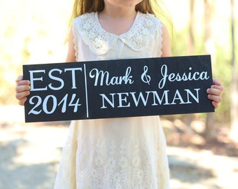 Personalized Wedding Gift Sign Christmas Bridal Shower Home Decor Present Monogram Last Name Custom Present (Item Number MHD20000)