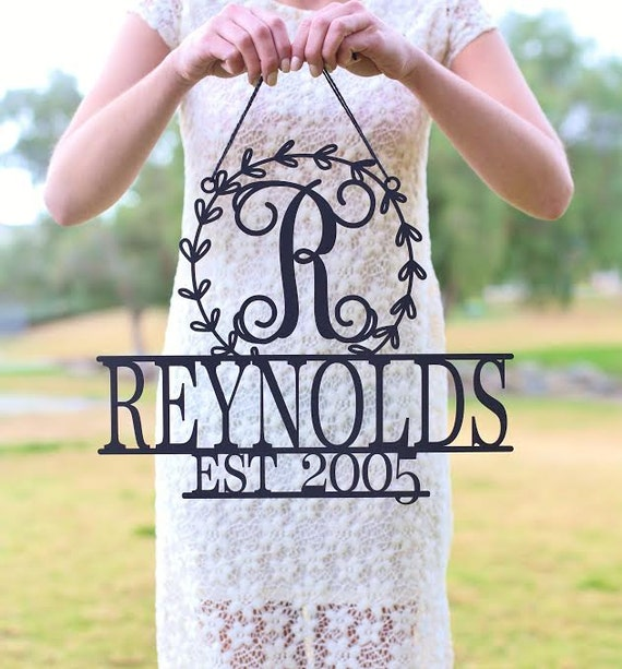 Personalized Wall Sign Last Name Wall Sign Monogram Wood Sign Bridal Shower Gift Wedding Gift Housewarming Gift Personalized Christmas Gift