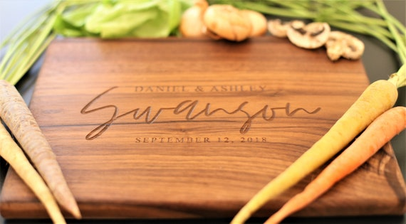 Personalized Cutting Board for a New Home, New Couple, Housewarming, Wedding or Christmas Gift