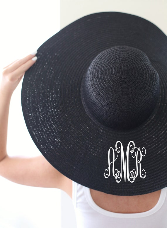 Personalized Bridal Shower Gift Personalized Wedding Gift Personalized Floppy Hat Personalized Sun Hat Birthday Gift Christmas Gift Monogram