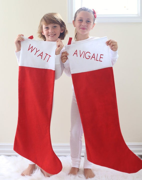 Personalized Christmas Stockings XLarge Personalized Christmas Stocking For Kids Personalized Santa Sack Personalized Christmas Gift