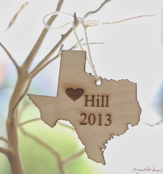 Personalized Ornament Personalized State Ornament State Ornament Wood Ornament