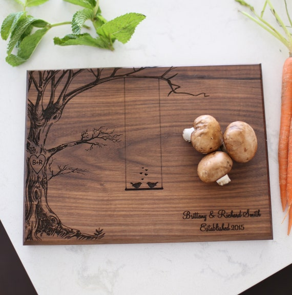Personalized Cutting Board / Personalized Cutting Board With Tree / Wedding Gift / Personalized Gift / Bridal Shower Gift /