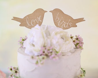 Rustic Wedding Cake Topper Love Birds We Do Vintage Chic Decor  (Item Number MHD100013)