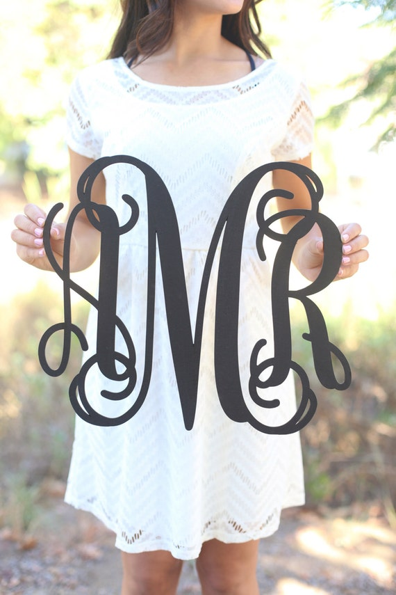 Personalized Wood Monogrammed Sign Personalized Bridal Shower Gift Nursery Gift Wedding Gift Housewarming Party Christmas Baby Shower Gift