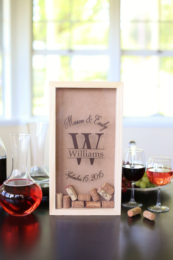 Personalized Wine Cork Keeper Personalized Bridal Shower Gift Personalized Wedding Gift Wine Lovers Gift Custom Christmas Gift (NVMHDA1221)