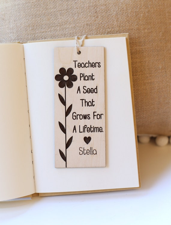 Personalized Bookmark Gift For Teacher Back to School First Day of School Gift Kindergarten Preschool Teachers Christmas Gift (NVMHDAY0748)