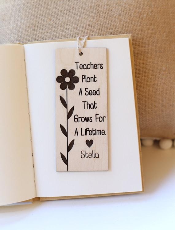Personalized Bookmark Gift For Teacher Back to School First Day of School Gift Kindergarten Preschool Teachers Christmas Gift (NVMHDAY0748)