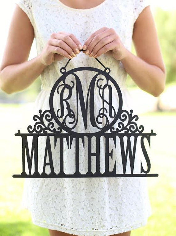 Personalized Bridal Shower Gift Personalized Wedding Gift Personalized Wall Sign Personalized Christmas Gift Monogram Wall Sign (NVMHDA1453)