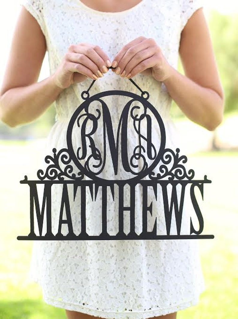 Personalized Bridal Shower Gift Personalized Wedding Gift Personalized Wall Sign Personalized Christmas Gift Monogram Wall Sign Nvmhda1453