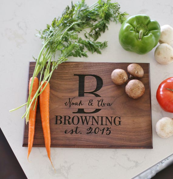 Cutting Board Personalized Cutting Board Personalized Wedding Gift Personalized Christmas Gift Personalized Bridal Shower Gift (NVMHDA1135)