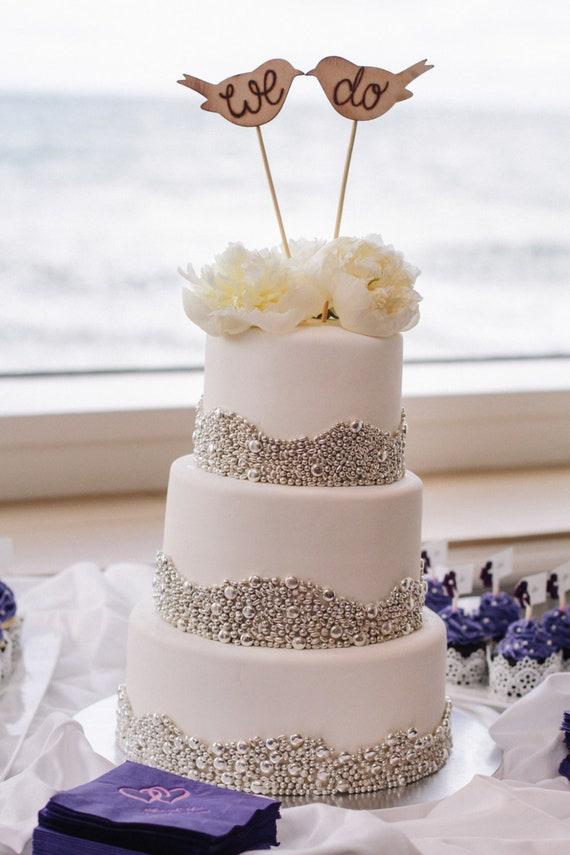 Rustic Wedding Cake Topper We Do Love Birds Bridal Shower Rustic Wedding Decor Barn Wedding Garden Wedding E10634