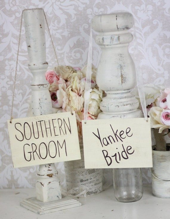 Bride and Groom Chair Signs Rustic Country Wedding (Item Number MMHDSR10019)