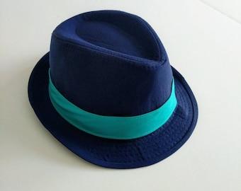3ddf0084aa6 Boy Navy Fedora Hat