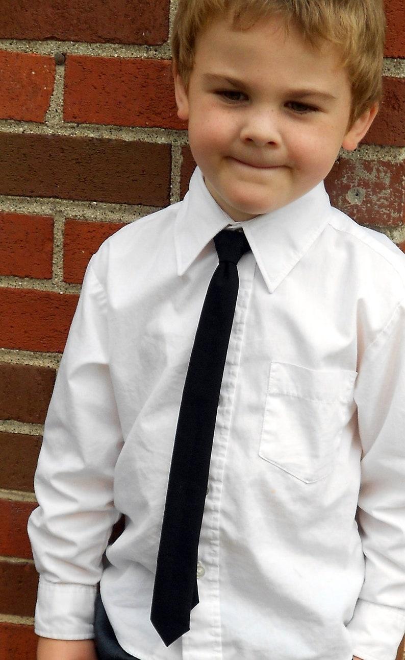 Black Skinny Tie for Boy image 0