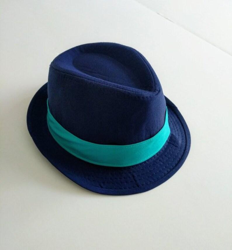 Boys All Season Blue Banded Fedora Hats BF8755