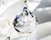 Swarovski Crystal Light Pull, Prism Suncatcher, Ceiling Fan Pull Chain, Hanging Crystals