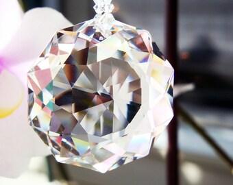 Crystal Sun Catcher, Swarovski Crystal Red Feng Shui Decor, Hanging Crystals, Prism Suncatchers, Crystal Suncatcher