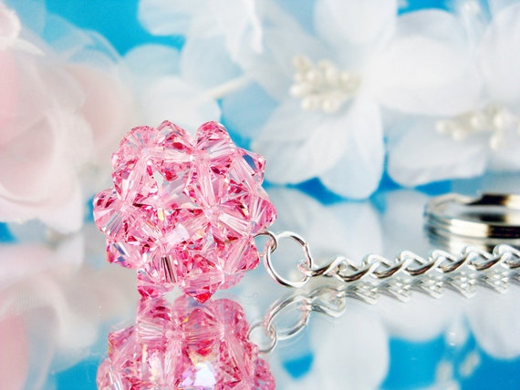 Swarovski Crystal Keychain Pink Crystal Ball Key Chain for  d0606a67a