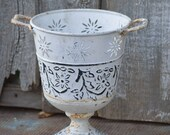 METAL DISTRESSED COUNTRY bowl vase ern garden shabby chic english country french country swedish nordic french nordic