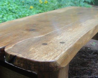Table or Bench Made From Reclaimed Pecan with Live Edges