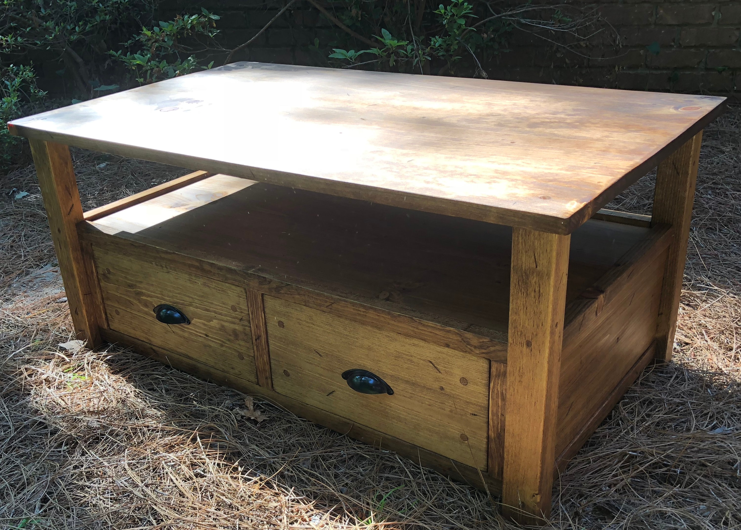 Custom Made Mr2 Pine Farmhouse Coffee Table Or Bench Made From Etsy