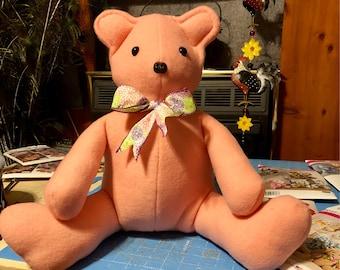 """14"""" Pink Felt Bear"""